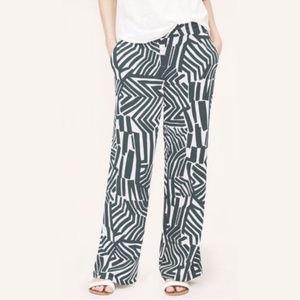 LOFT Ann Taylor NWOT Gray Zebra Palazzo Pant XL